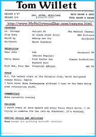 Actor Resume Font Brilliant Acting Resume Template To Get Inspired How To Write A