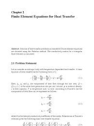 finite element heat transfer equations docshare tips