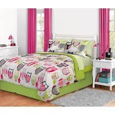 Walmart Girls Bedding Reversible Pink Green Teen Twin Comforter U0026 Sham Set Girls