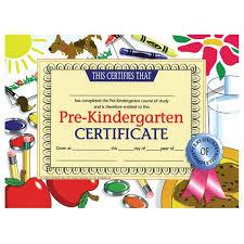 kindergarten certificates pre kindergarten certificate dog