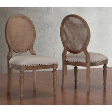 Wicker High Back Dining Chair Elements Weathered Oak Cane Back Dining Chairs Set Of 2 Beige
