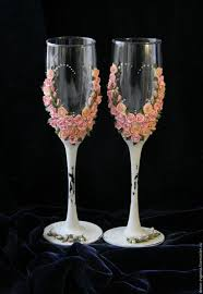 wedding glasses shabby chic wedding toasting glasses rustic toasting flutes