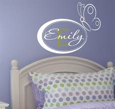 personalized name wall decals name wall decal girls nursery personalized name wall decals name wall decal girls nursery wall decal butterfly wall art