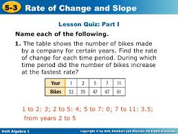 How To Find The Rate Of Change In A Table 5 3 Rate Of Change