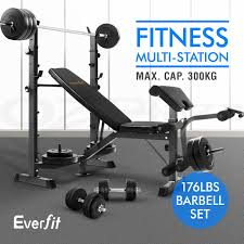 multi station weight bench gym station plates press fitness flat