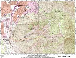 Utah Topo Maps by Mount Olympus Wasatch Mountains Hiking
