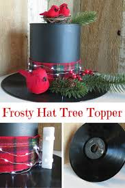 diy snowman hat tree topper