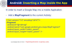 programming with android geo localization and google map services