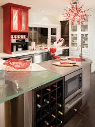 kitchen style high end modern eclectic kitchen red white glass