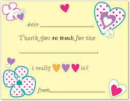 thank you notes kids fill in thank you cards kids thank you notes thank yous