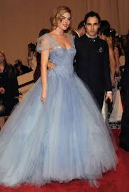 wedding lady blue tulle dress