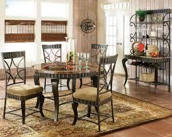 Steve Silver Dining Room Sets Steve Silver Hamlyn Round Dining Table W Marble Top U0026 Metal Base