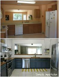 remodel kitchen ideas on a budget before and after teeny tiny kitchen cheap makeover what an amazing