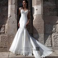 civil wedding dresses civil wedding dress mermaid vestido de noiva sereia cap