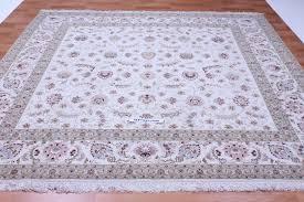 8x8 Rugs Square 8x8 Faraji Tabriz Persian Rugs Silk Foundation Tabriz Carpet