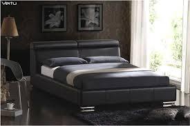 Black Leather Platform Bed Mb Vertu Top Grain Leather Platform Bed Contemporary Bedroom