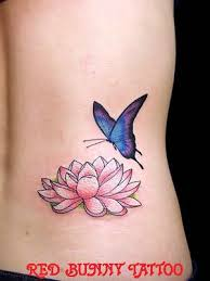 lotus flower and butterfly tattoos flower butterfly 花と蝶