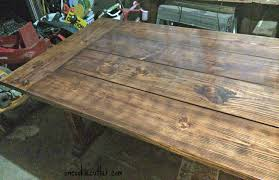 Making A Wood Plank Table Top by Diy Table With A Removable Top