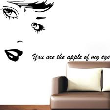 beauty vinyl wall stickers u0027 u0027you are the apple of my eye u0027 u0027 love