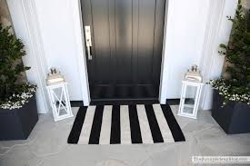 Black And White Striped Outdoor Rug by Spring On The Front Porch The Sunny Side Up Blog