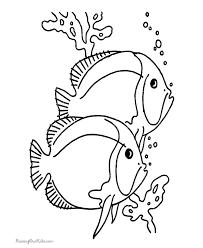coloring sheets fish coloring