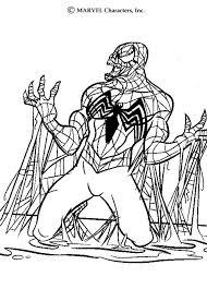 venom coloring pages hellokids
