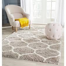 safavieh hudson ogee shag grey background and ivory rug 5 u00271 x 7 u00276