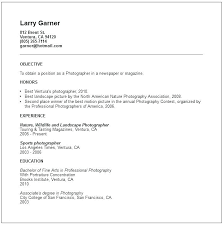 photographer resume template resume photography resume template