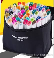 2018 new touch seven permanent colored marker micron pens copic