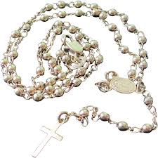 sacred heart rosary vintage gold tone rosary with sacred heart medallion and cross