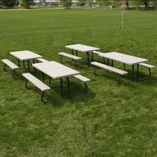 Lifetime Folding Picnic Table Lifetime Products Putty 4 Pack 6 Ft Folding Picnic Tables Rc