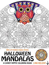 halloween mandala coloring mooneye printable