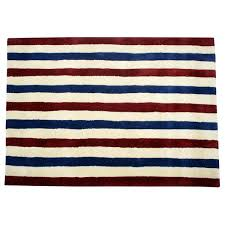 Red White Striped Rug Stars And Stripes Décor And Art Americana Home Style Olde Glory