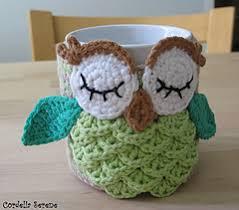 owl mug ravelry owl mug cozy pattern by justyna kacprzak