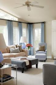 Corner Drapery Hardware Beautiful Transitional Livingroom Blue Armchair Collection Of Blue