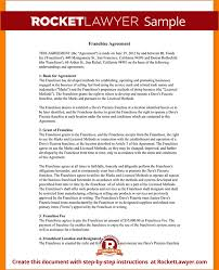 5 franchise agreement template outline templates
