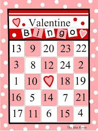 9 sets of free printable valentine bingo cards