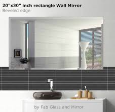 Frameless Bathroom Mirrors by 20