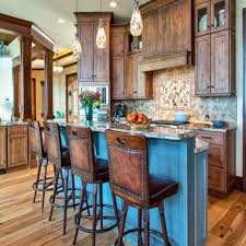 kitchen island with stove ideas brown striped accent walls color