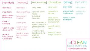 printable house cleaning schedule how to have a clean home every day free printable simplykierste com