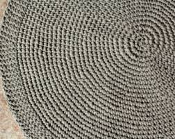 Rustic Rug Organic Rug Linen Crochet Rug Flax Linen Carpetfloor