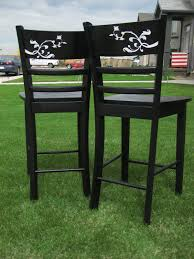 Repurposed Furniture Before And After by Remodelaholic Barstool Revamp Before And After