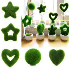 sale fashion artificial fresh moss balls green plant home