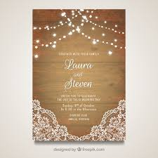 wedding cards design wedding card with wooden design vector free