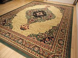amazon com new large 8x11 green persian style area rug green