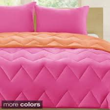 pink comforter sets for less overstock