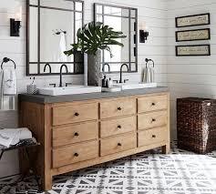 pottery barn bathroom ideas sink console wax pine pottery barn n shore