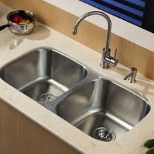 White Undermount Kitchen Sink Sinks Contemporary Kraus Stainless Steel 32 25 X 18 5 Double