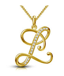 kataria jewellers letter l gold plated 92 5 sterling silver and