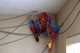 bedroom spiderman room ideas for spiderman birthday party